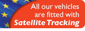 All our vehicles are fitted with satellite tracking